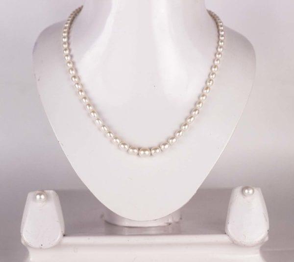 Graded Oval Pearl Set
