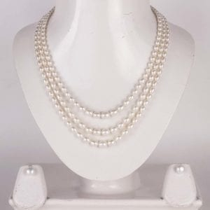 Graded Oval Pearl Set (Three Strings)