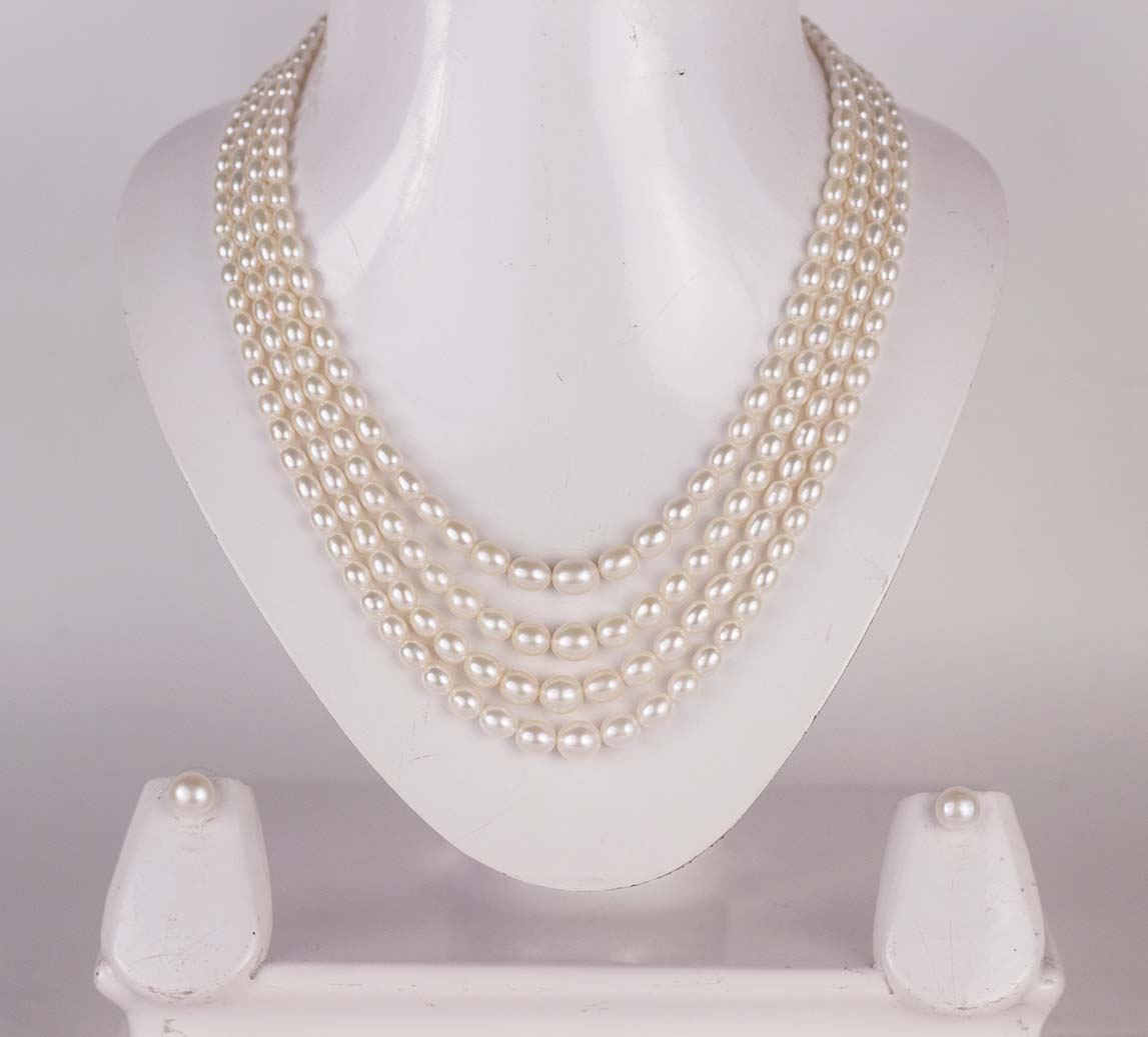 Graded Oval Pearl Set (Four Strings)