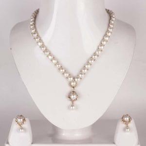Simple Button Pearl Set (Golden Base)
