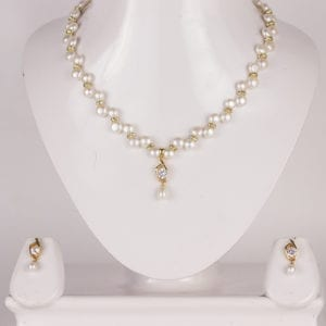 Simple Zigzag Necklace Set (Golden Base)